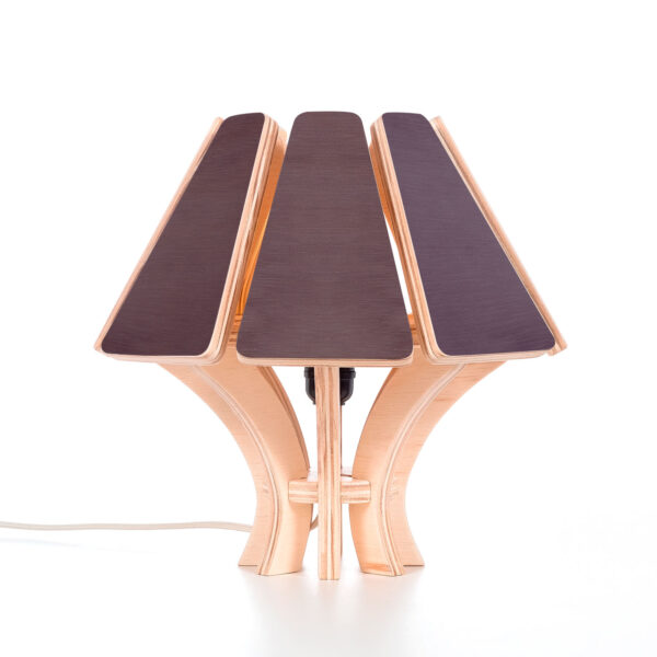 Modular premium flat pack lampshade made from eco-friendly birch plywood