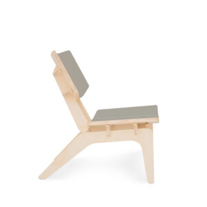 Modular premium flat pack kids chair made from eco-friendly birch plywood