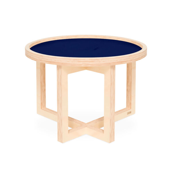 Modular premium flat pack table made from eco-friendly birch plywood