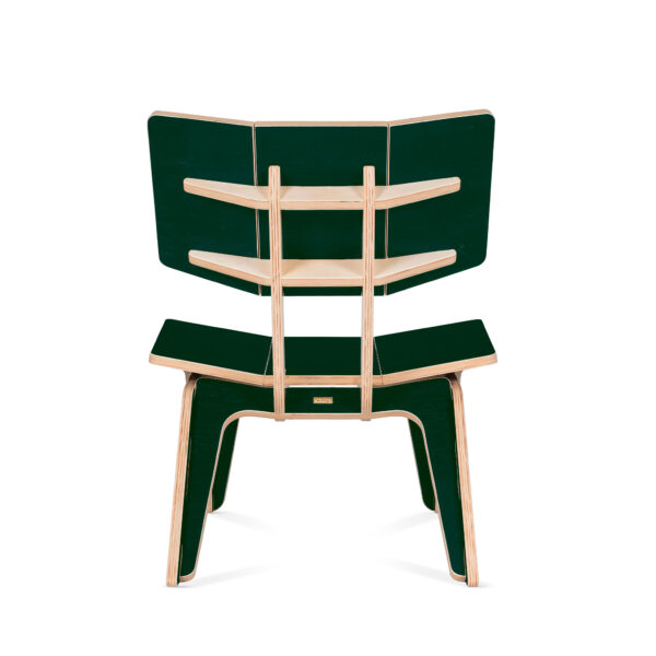 Modular premium flat pack armchair made from eco-friendly birch plywood